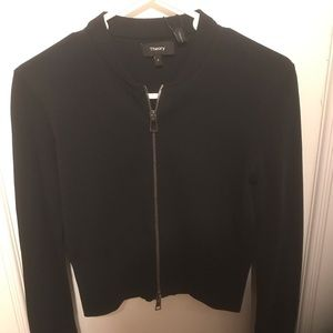 Theory knit bomber new with tags